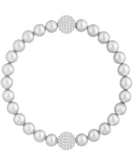 Remix Faux Pearl And Crystal Beaded Bracelet