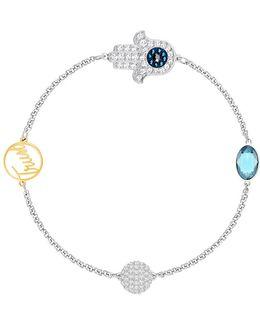 Remix Crystal Hamsa Hand Symbol Chain Bracelet