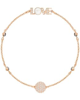 Remix Pink Crystal Timeless Chain Bracelet