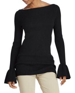 Ruffled Stretch Sweater
