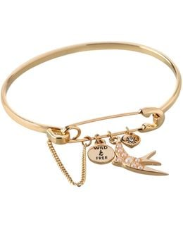 Affirmation Charm Bangle Bracelet