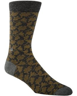 Mens Floral Crew Socks