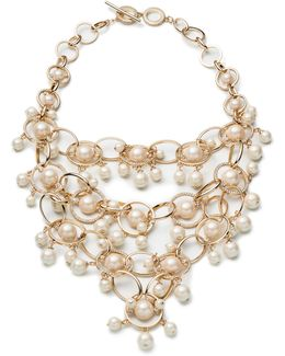 Majestic Pearl Bib Necklace