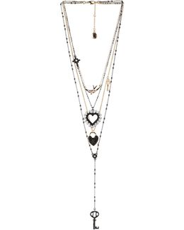 Keys To My Heart Multi-strand Necklace