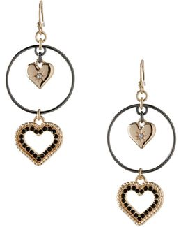 Keys To My Heart Double Drop Hoop Earrings
