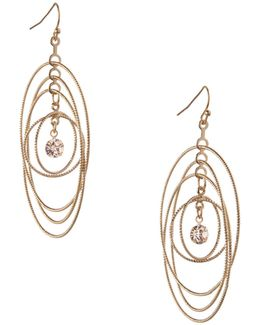 Orbital Goldtone Multi-circle Drop Earrings