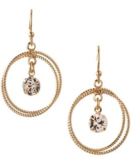 Orbital Double Circle Drop Earrings