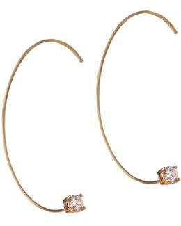 Orbital Goldtone Threader Earrings