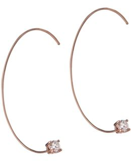 Orbital Rose Goldtone Threader Earrings
