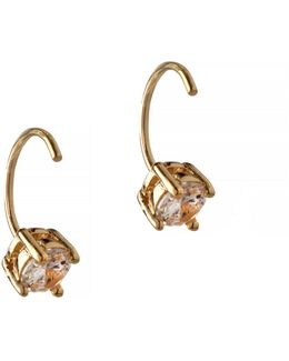 Orbital Goldtone Threader Hoop Earrings