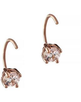 Orbital Rose Goldtone Threader Hoop Earrings