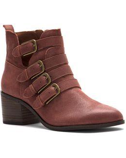 Loreniah Block Heel Leather Booties