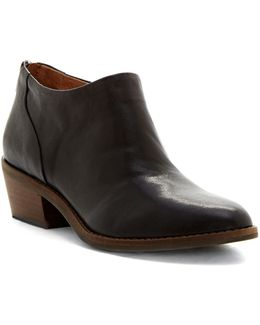 Fai Block Heel Leather Booties