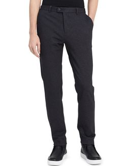 Classic-fit Heathered Pants