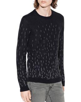 Degrade Jacquard Wool Sweater