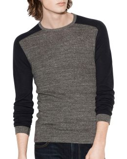 Long Sleeve Saddle Shoulder Shirt