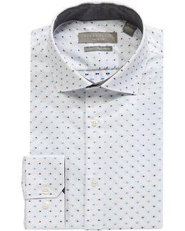 Non-iron Slim Fit Dobby Dress Shirt