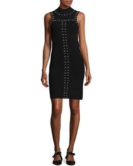 Sleeveless Stud Bodycon Dress