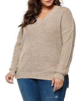 Plus Drop-shoulder Sweater