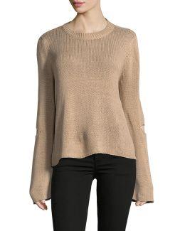Tape Yarn Distressed Sweater