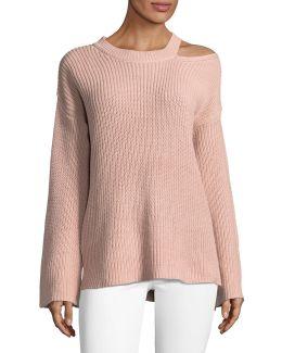 Shaker Slit Sweater