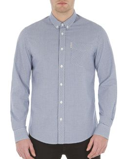 Mini Gingham Cotton Sport Shirt