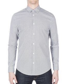 Optic Dash Dot Cotton Sport Shirt