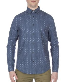Dobby Cotton Casual Sport Shirt