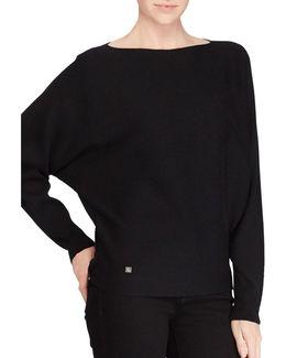 Petite Cotton-blend Dolman Sweater