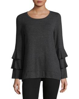 Scoop Neck Bell Sleeve Tunic