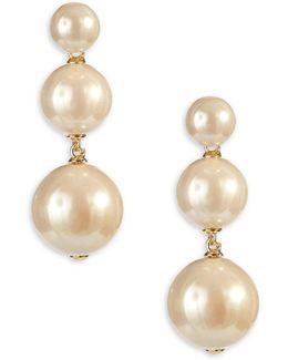 Faux Pearl Studded Earrings