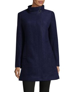 Classic Stand Collar Wool Coat