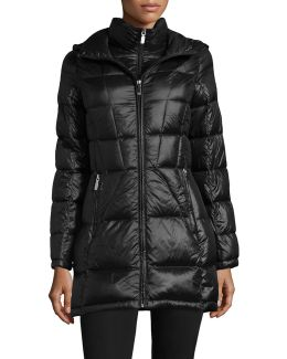 Packable Hooded Puffer Coat