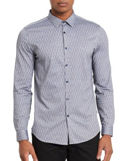 Stripe Slim-fit Cotton Sport Shirt