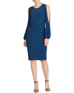 Jersey Cold-shoulder Sheath Dress