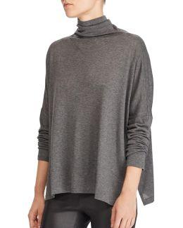 Boxy Jersey Turtleneck Shirt