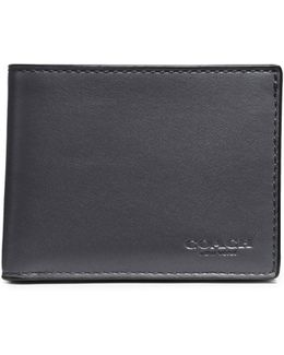 Slim Billfold Leather Wallet