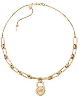 Padlock Pendant Choker Necklace