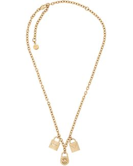 Padlock Pendant Chain Necklace