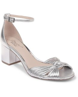 Lacey Metallic Leather Block-heeled Shoes