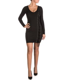 Genna Lace-up Bodycon Dress