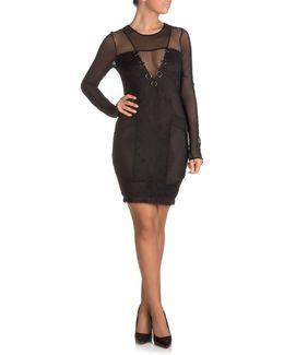 Delfina Mixed Lace Bodycon Dress