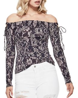Catrina Off-the-shoulder Tee