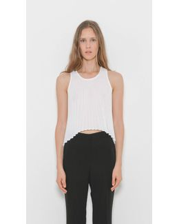 Pleated Arc Top