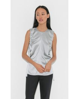 Ruched Silk Tank