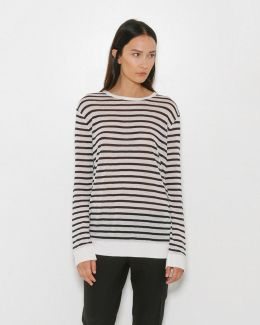 Rayon Linen Stripe Long Sleeve