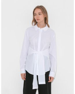 L/s Collared Tie Front Shirt