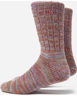 5 Colour Mix Crew Socks