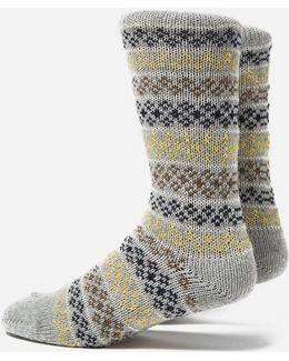Flower Stripe Socks