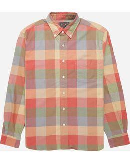 Button Down Multi Block Check Shirt